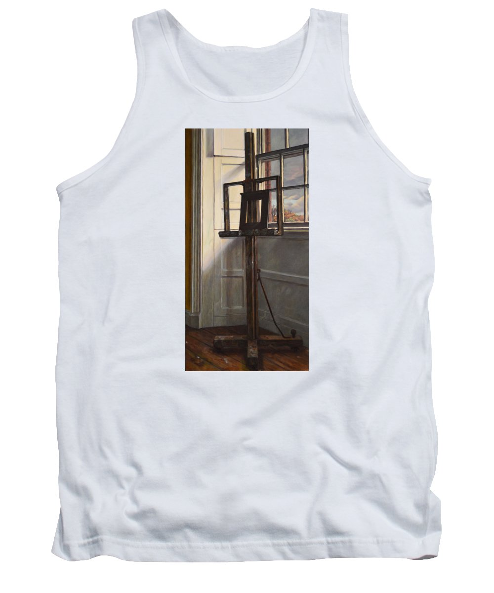 Rural Tank Top featuring the painting Cactus by Kenneth Cobb