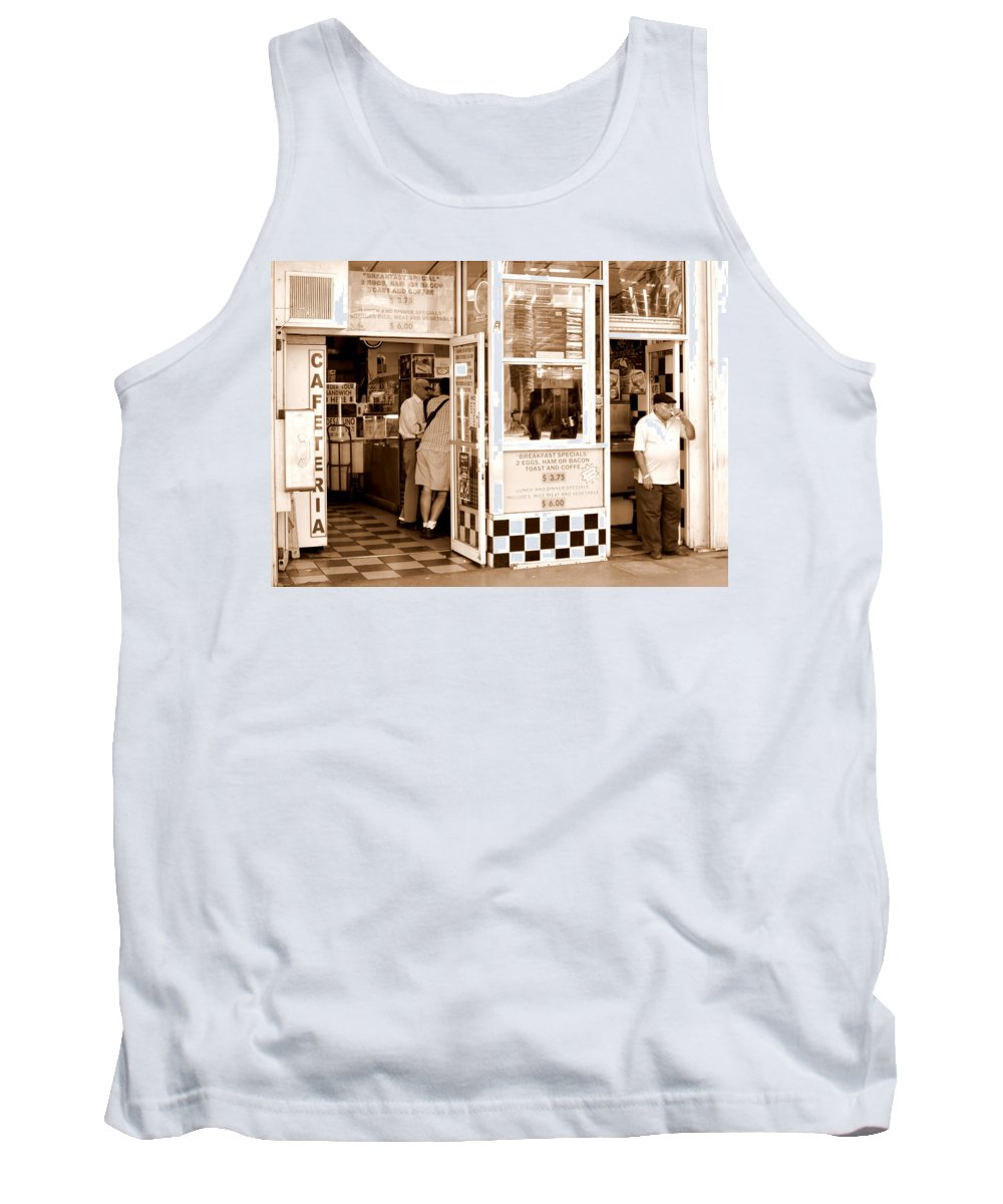 Miami Coffee Shop Tank Top featuring the photograph Cafecito by Tom Schaefer
