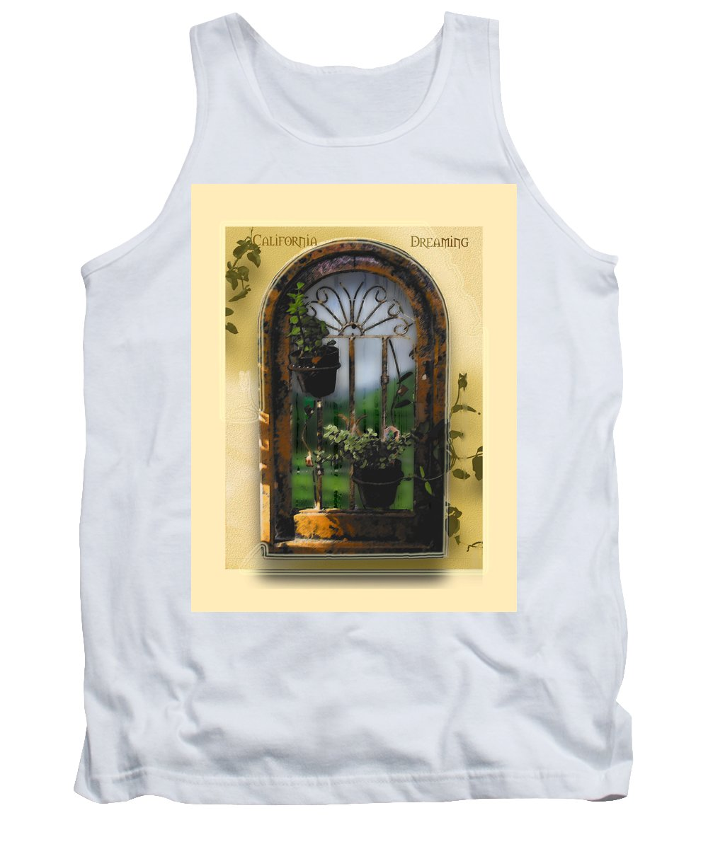 Abstract Tank Top featuring the photograph California Dreamin by Karen W Meyer