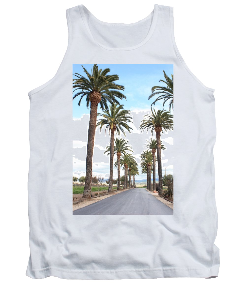 Palm Trees Tank Top featuring the photograph California Dreaming by Carol Groenen