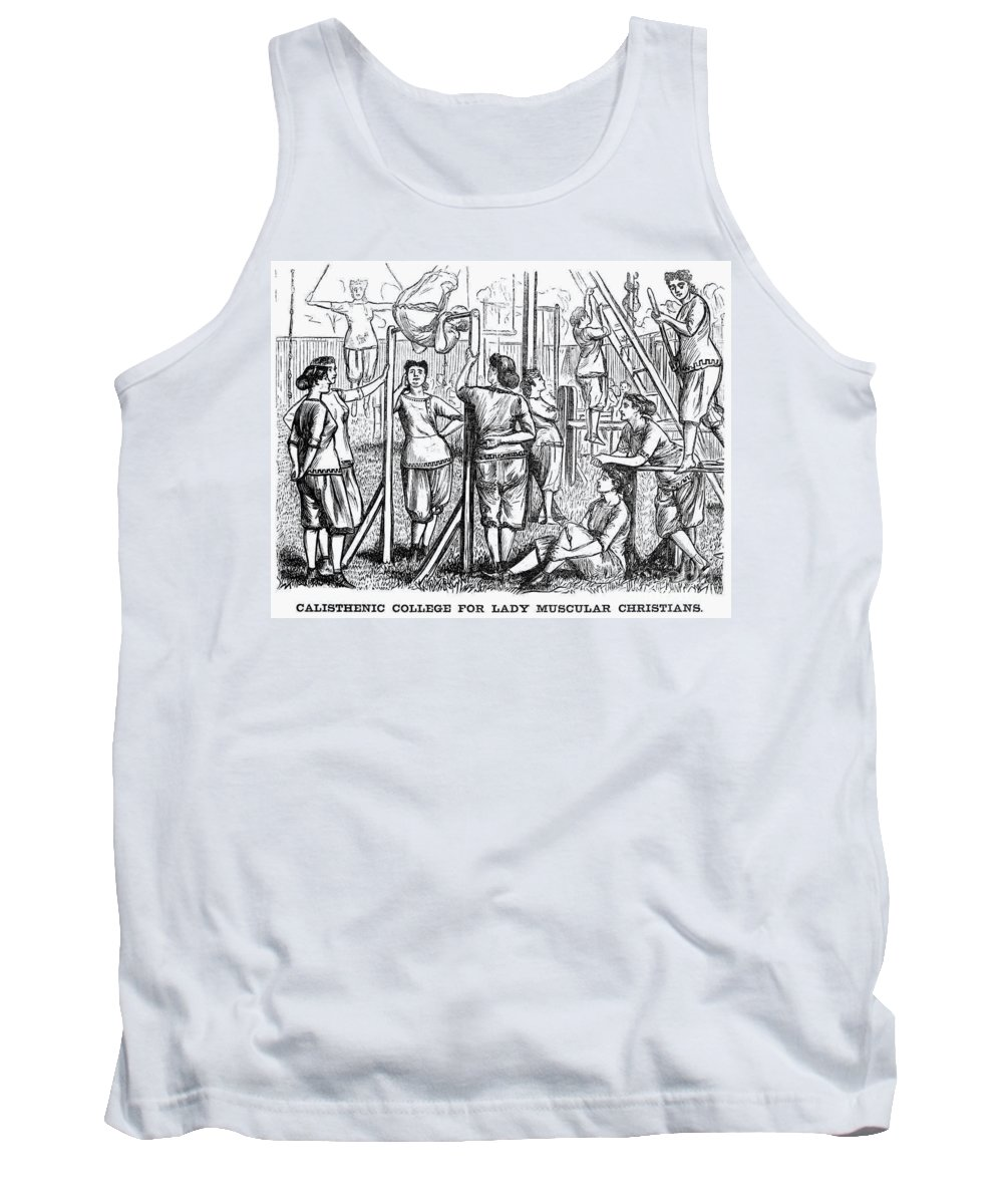 1867 Tank Top featuring the photograph Calisthenics, 1867 by Granger