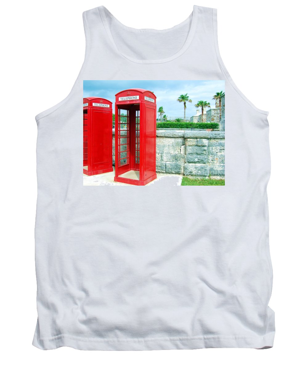 Phone Tank Top featuring the photograph Call Me by Debbi Granruth