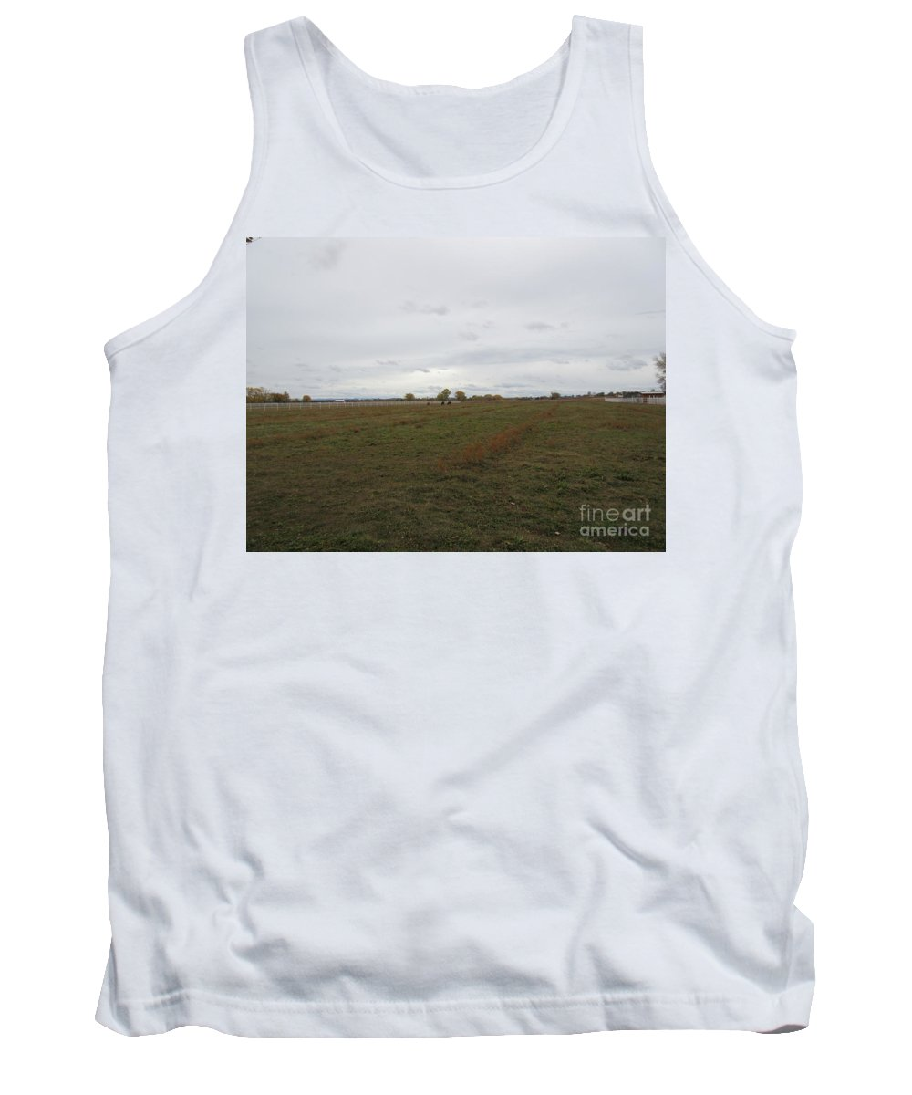 Calves Tank Top featuring the photograph Pasture by Frederick Holiday