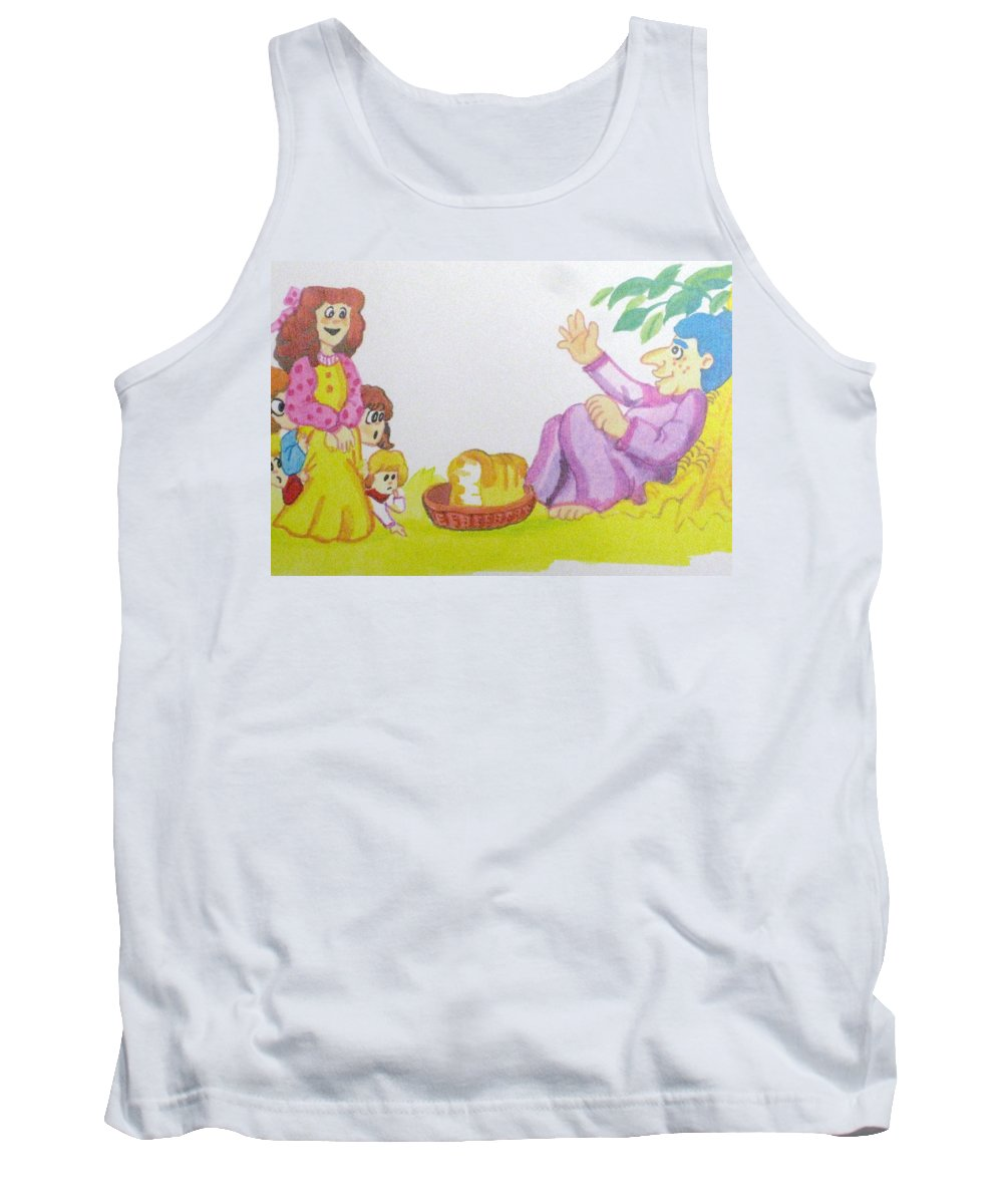 Family Art Tank Top featuring the drawing Can You Spare Some Children by Robert Margetts