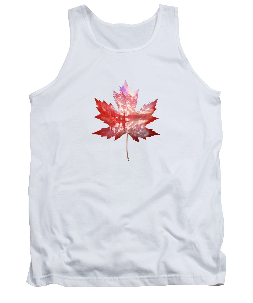 Maple Leaf Art Tank Tops