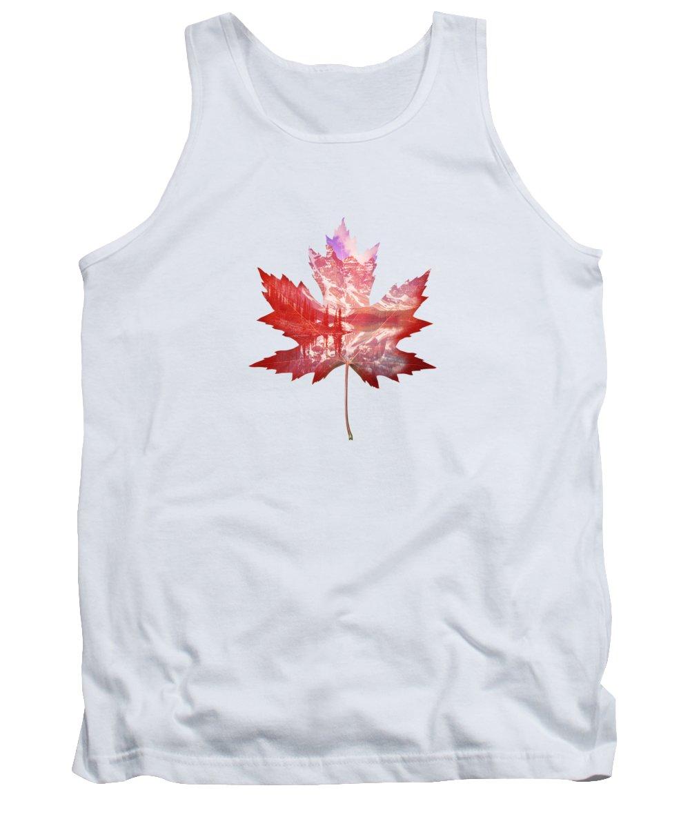 Maple Leaf Art Tank Tops