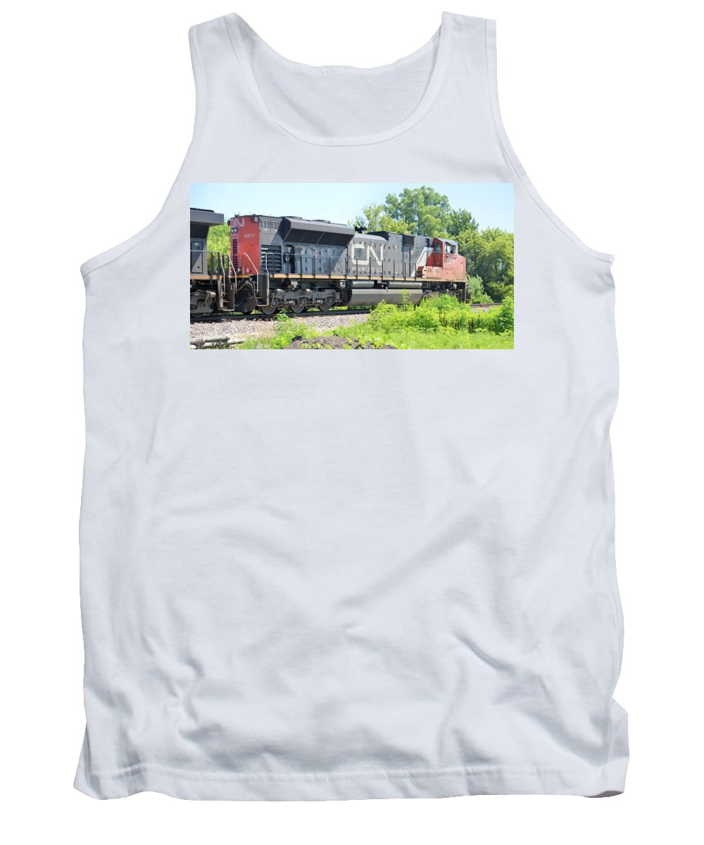 Train Tank Top featuring the photograph Canadian Northern by Bonfire Photography