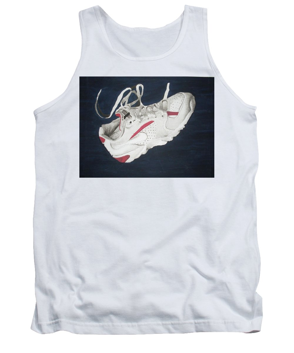 Shoes Tank Top featuring the painting Canvass by Olaoluwa Smith