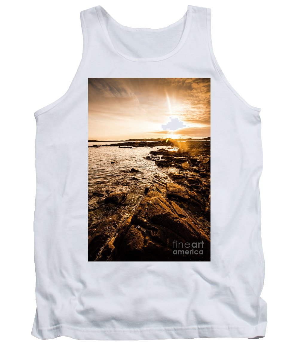 Beach Tank Top featuring the photograph Cape Portland Tasmania by Jorgo Photography - Wall Art Gallery