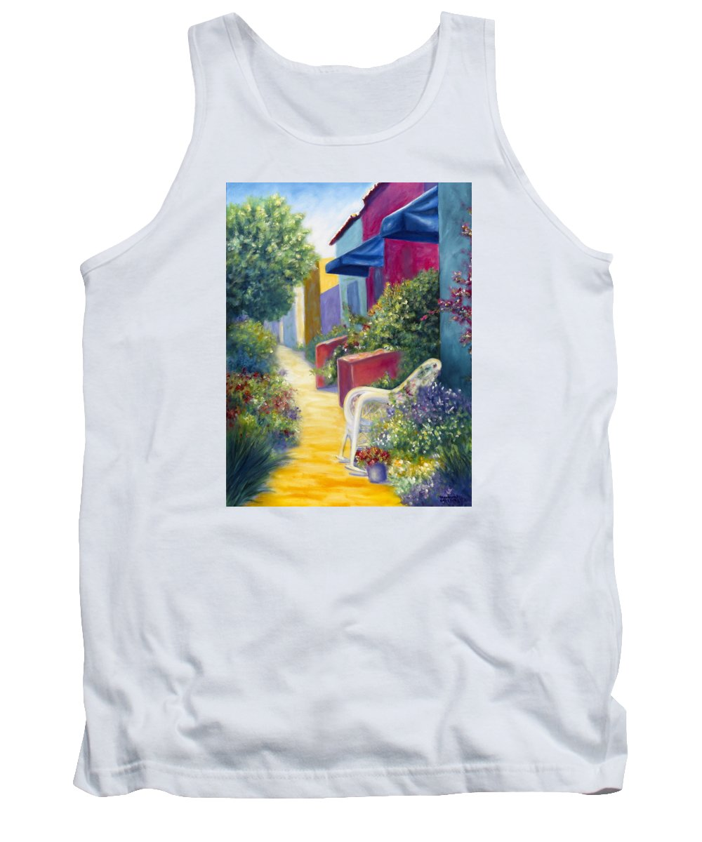 Capitola Tank Top featuring the painting Capitola Dreaming by Shannon Grissom