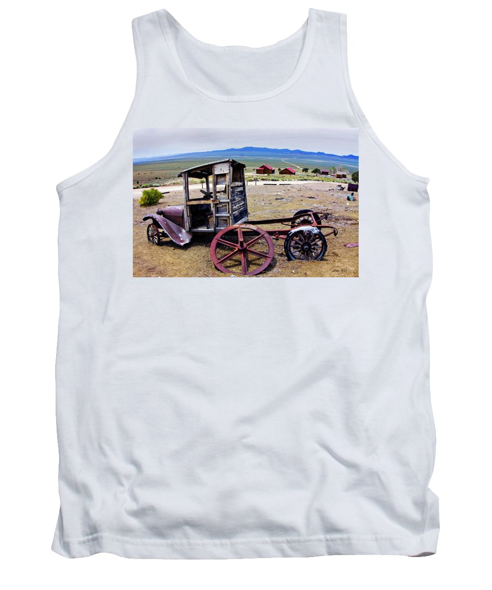 Car Tank Top featuring the photograph Car In Berlin Nevada by Day Williams
