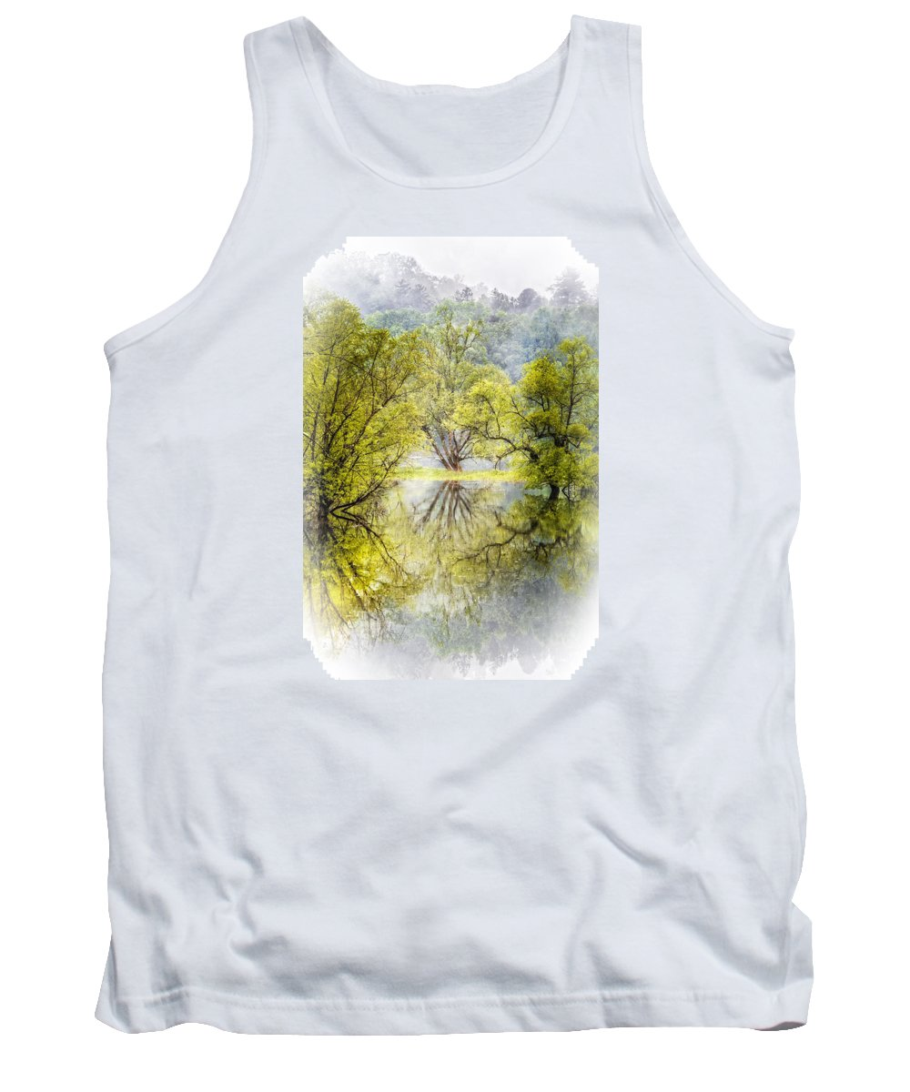 Appalachia Tank Top featuring the photograph Caress In The Mist by Debra and Dave Vanderlaan