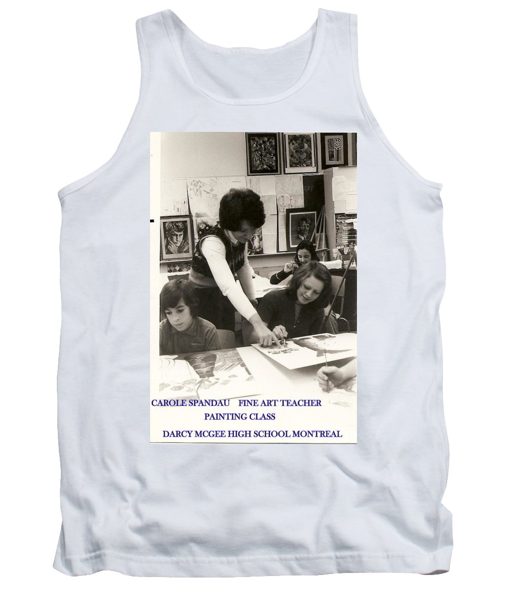 Carole Spandau Art Teacher Tank Top featuring the painting Carole Spandau Fine Art Teacher Darcy Mcgee Fine And Performing Art School Montreal by Carole Spandau