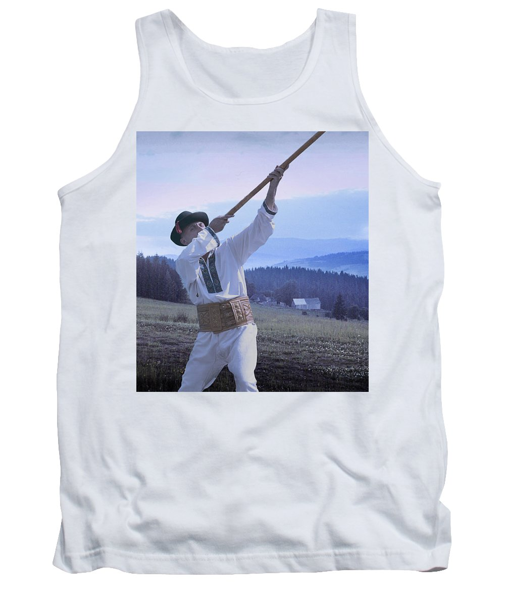 Ethnic Tank Top featuring the photograph Carpathian Highlander by Yuri Lev
