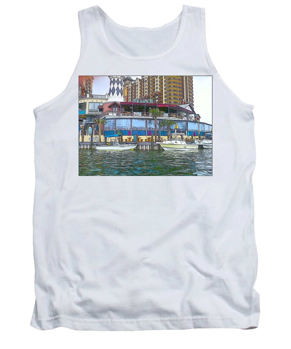 Cartoon Tank Top featuring the photograph Cartoon Boats by Michelle Powell