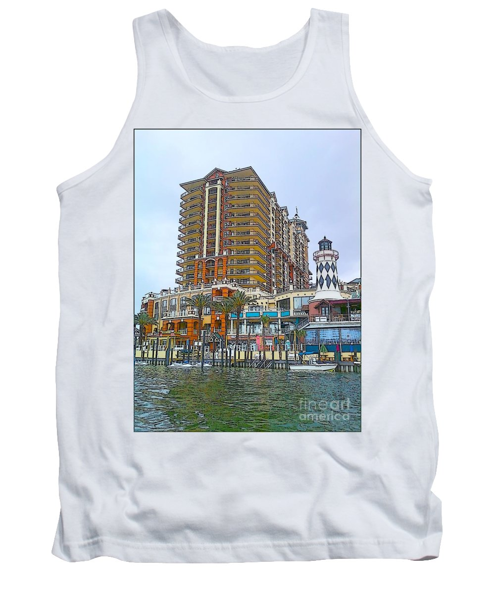 Cartoon Tank Top featuring the photograph Cartoon Skyscraper by Michelle Powell