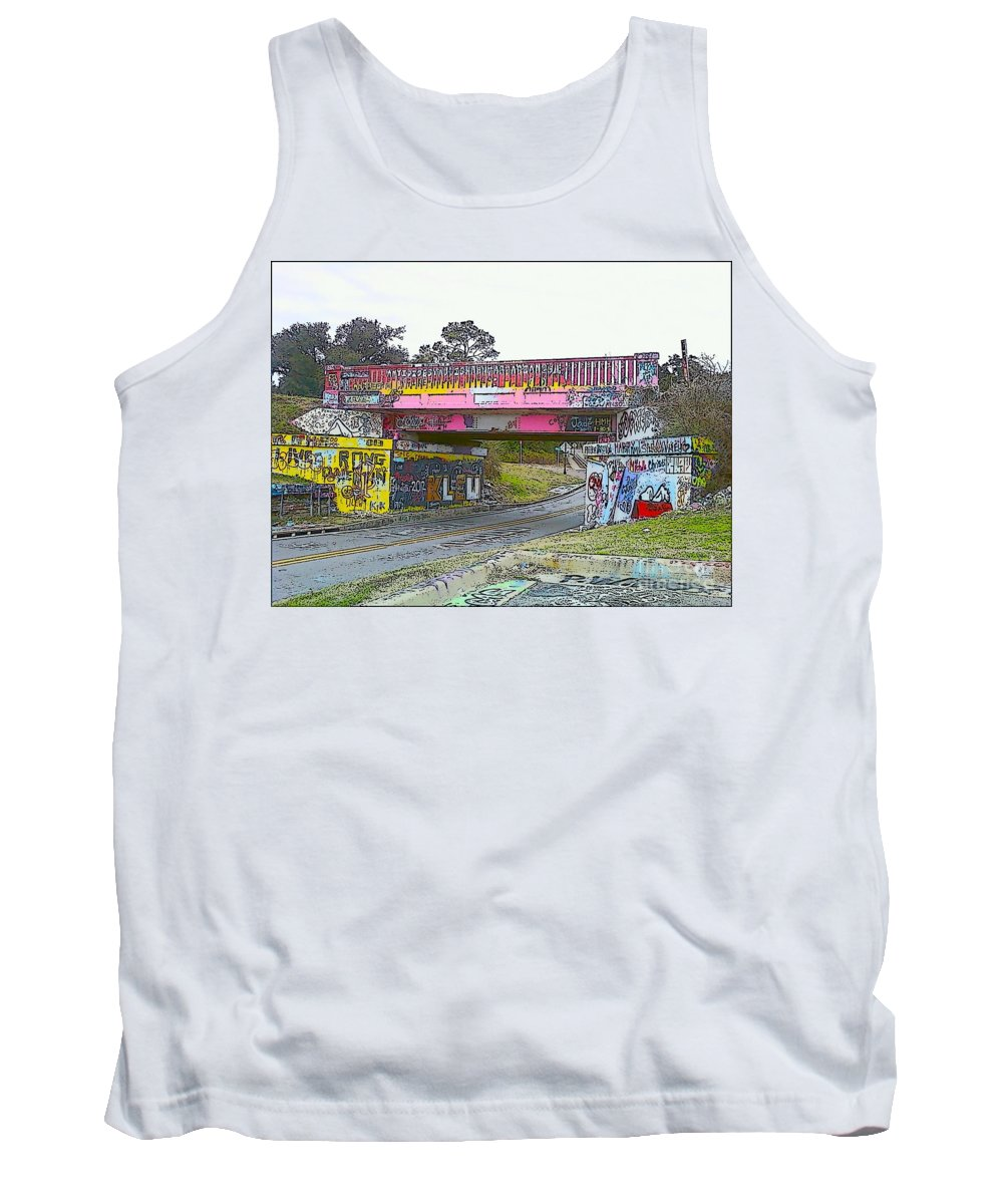Art Tank Top featuring the photograph Cartoon Street Art by Michelle Powell