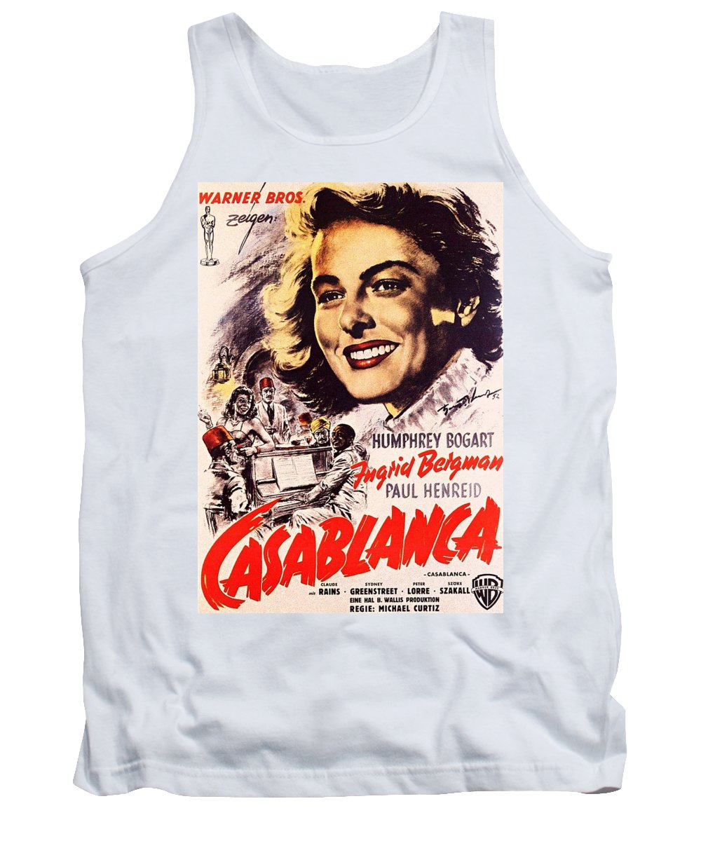 Casablanca Tank Top featuring the photograph Casablanca B by Movie Poster Prints
