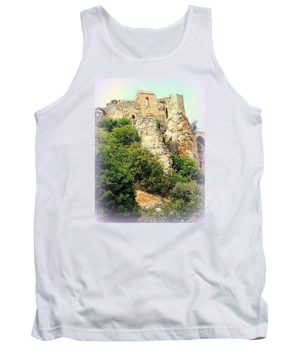 Horse Tank Top featuring the photograph The Enemy Is Still Hiding In The Old Castle by Hilde Widerberg