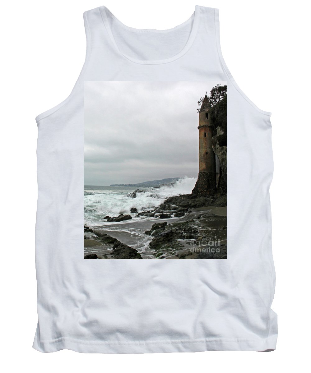 La Tour Tank Top featuring the photograph Castle Laguna Beach by Cheryl Del Toro