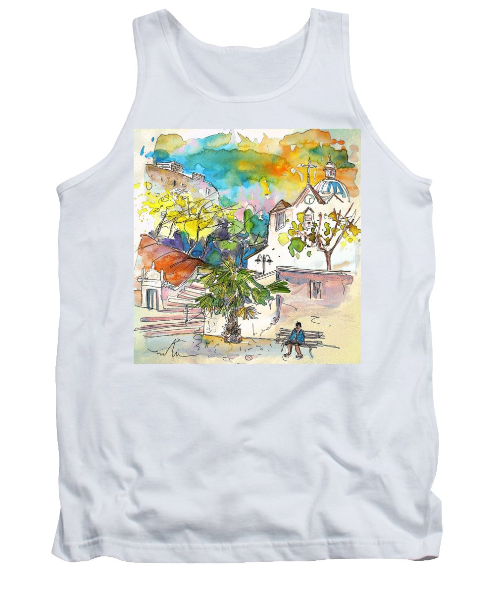 Castro Marim Portugal Algarve Painting Travel Sketch Tank Top featuring the painting Castro Marim Portugal 13 by Miki De Goodaboom