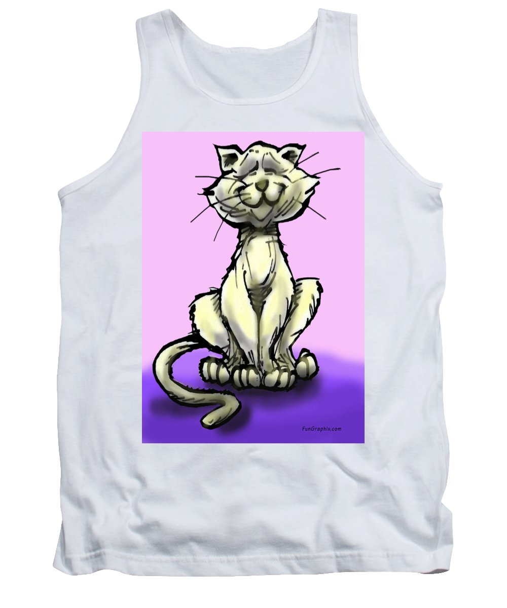 Cat Tank Top featuring the digital art Cat by Kevin Middleton