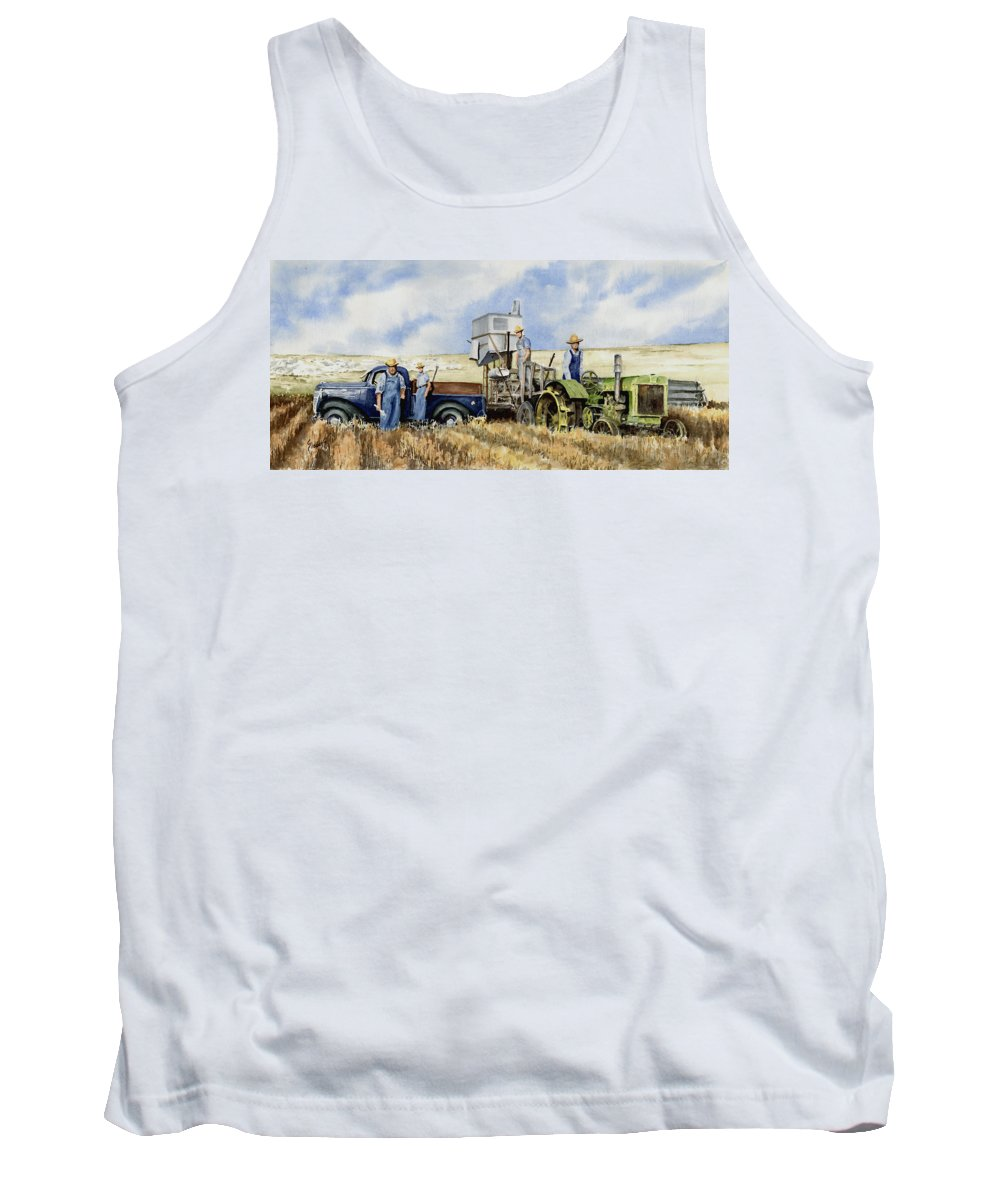 1938 Tank Top featuring the painting Catesby Cuttin' 1938 by Sam Sidders