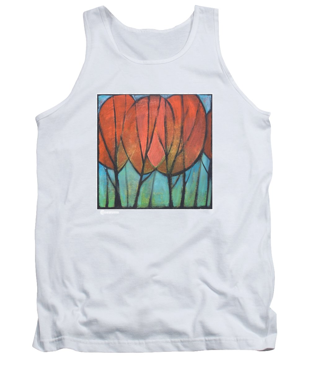 Trees Tank Top featuring the painting Cathedral by Tim Nyberg