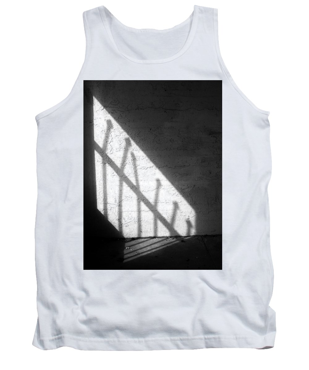 Abstract Tank Top featuring the photograph Cellbar Shadows by David DeMarco