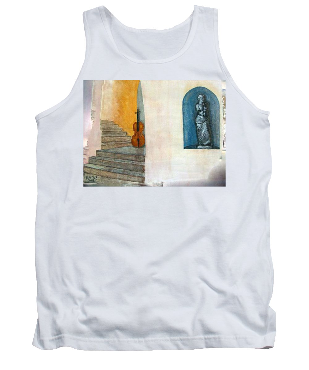 Cello Tank Top featuring the painting Cello No 2 by Richard Le Page