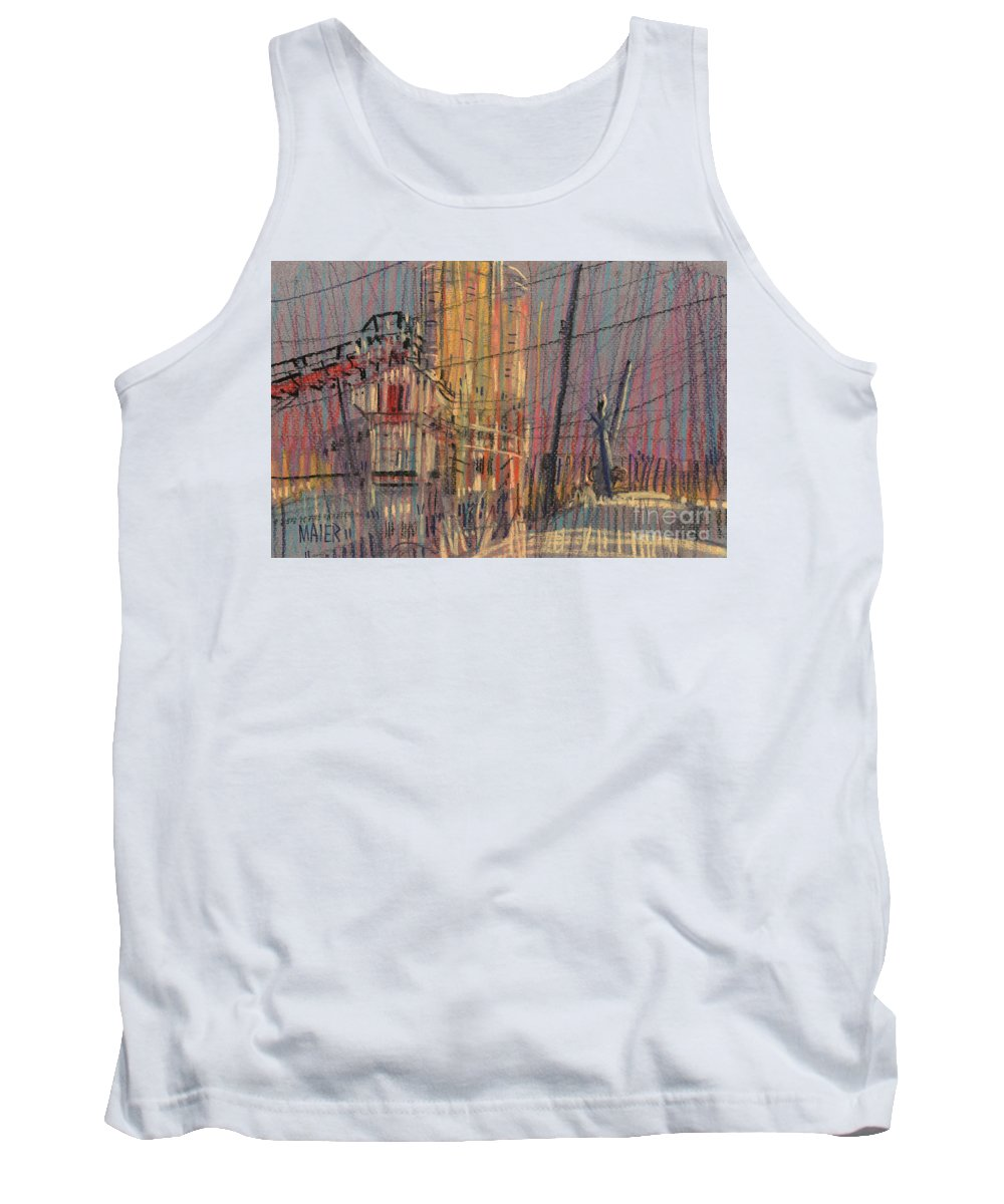 Pastel Tank Top featuring the drawing Cement Hopper II by Donald Maier