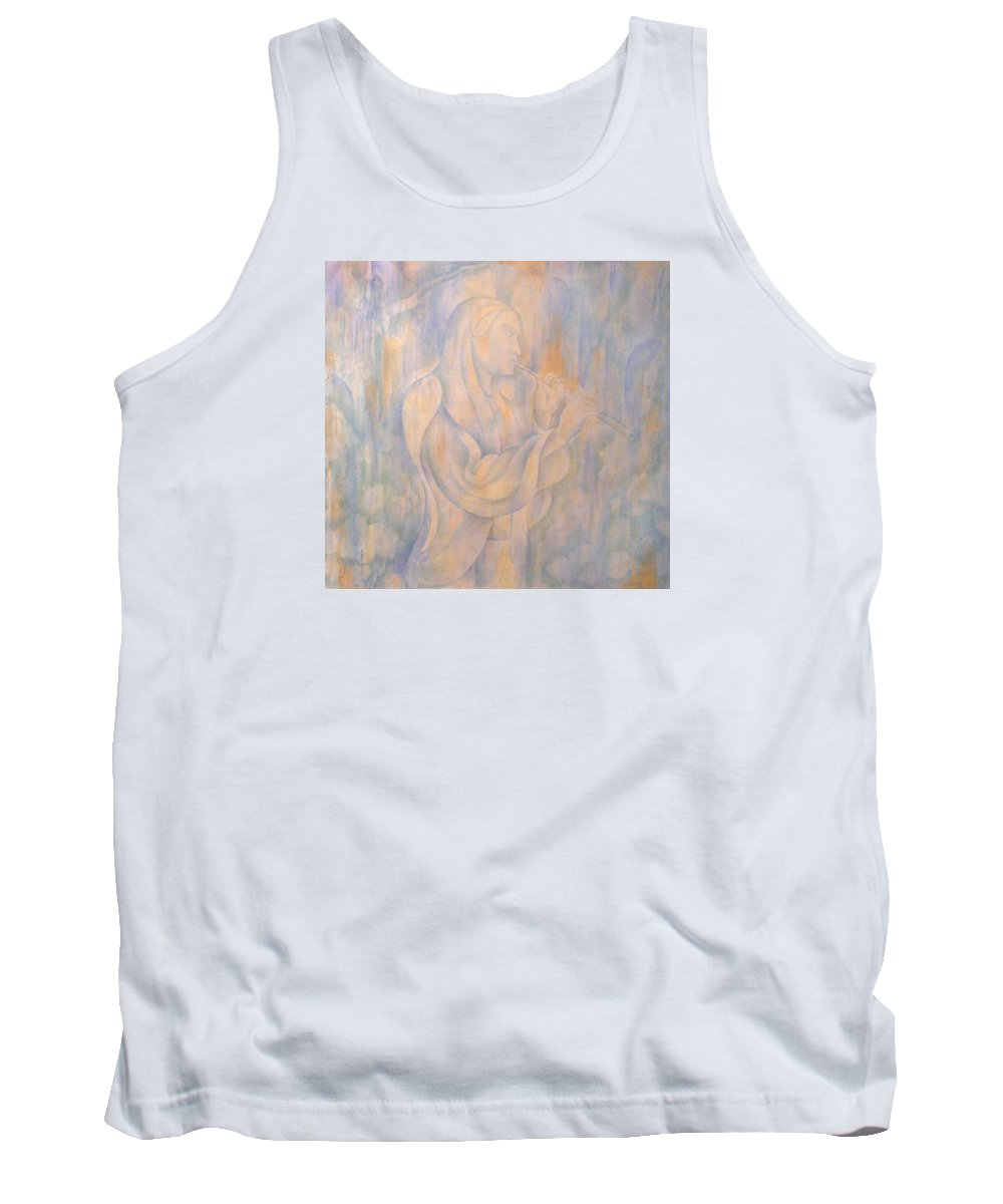 Music Tank Top featuring the mixed media Cerulean Melody by Andrey Dmitrienko