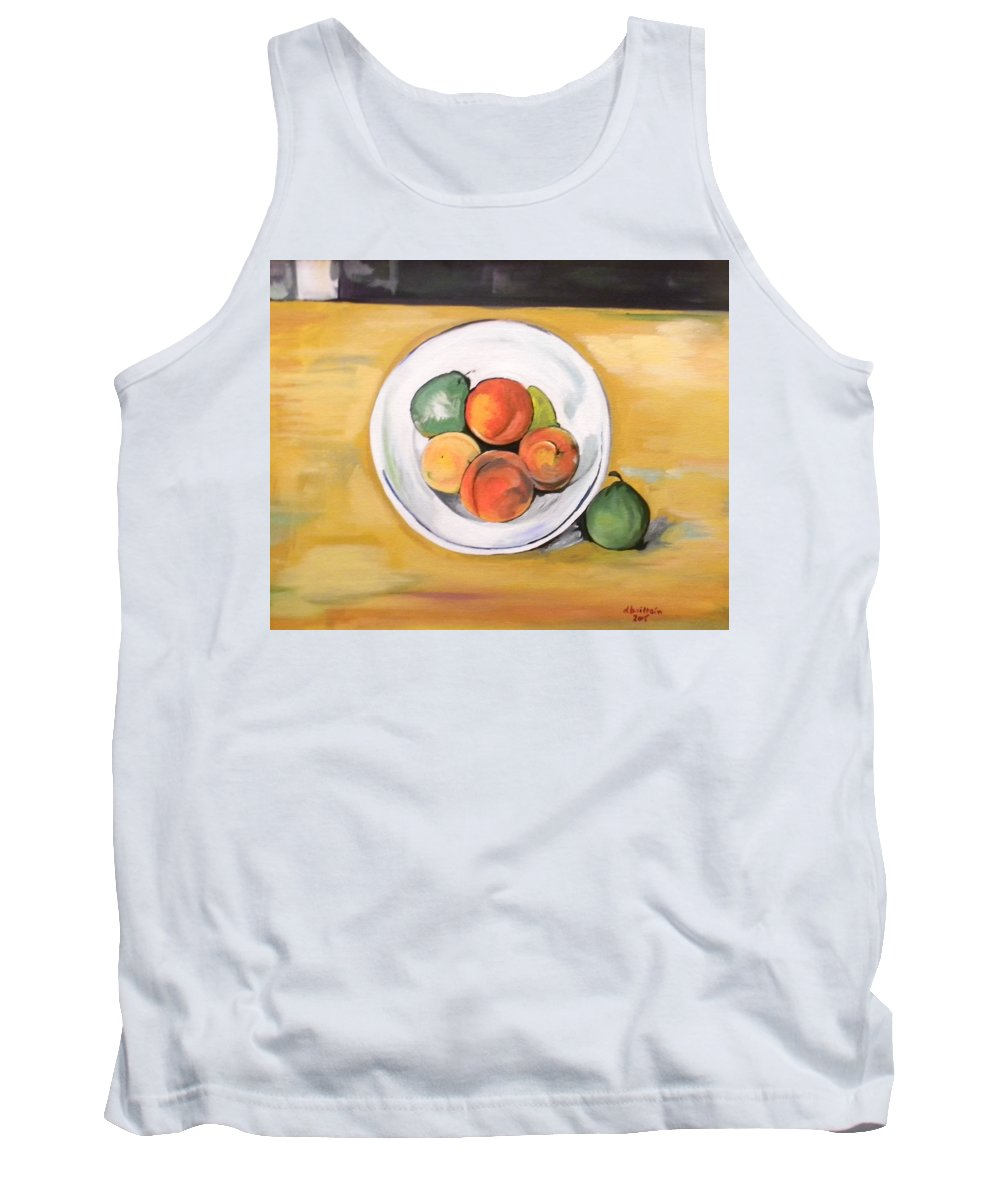 Fruit Tank Top featuring the painting Cezannes Fruit Bowl by Dolores Brittain