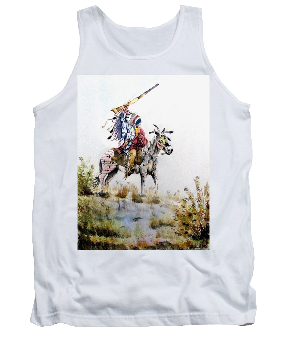 American Tank Top featuring the painting Challenge by Jimmy Smith