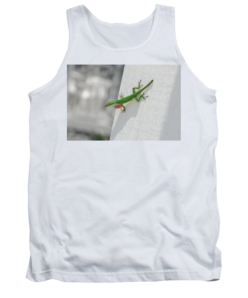 Chameleon Tank Top featuring the photograph Chameleon by Robert Meanor