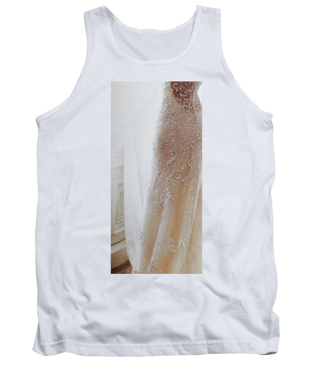 Tank Top featuring the photograph Champagne Lace by Jacqueline Manos