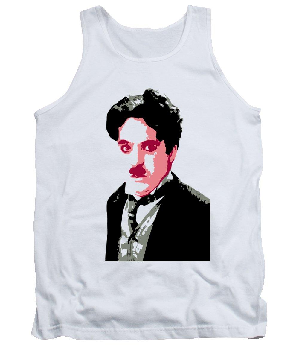 Charlie Chaplin Tank Top featuring the digital art Charlie Chaplin by DB Artist
