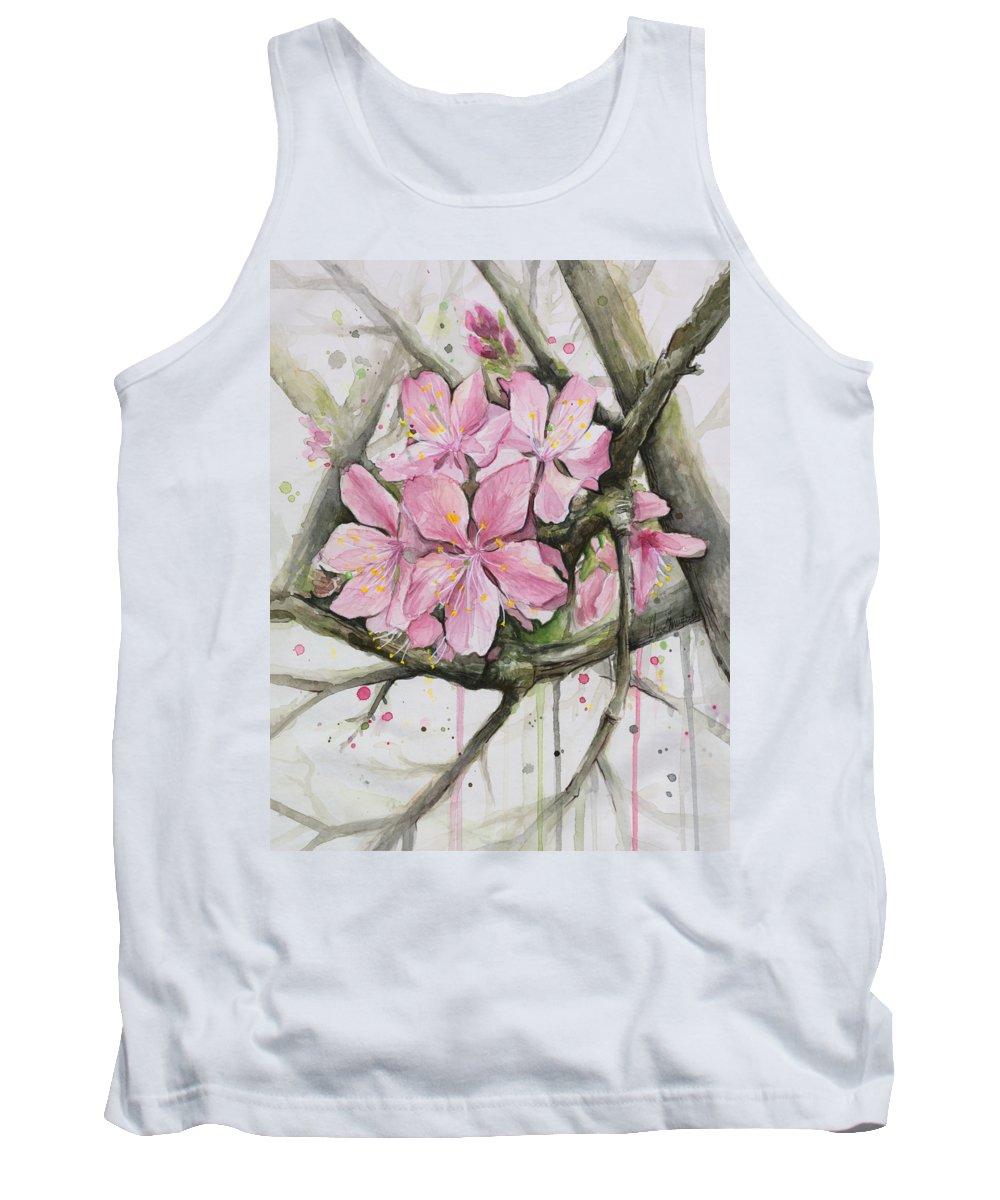 Pink Flowers Tank Tops