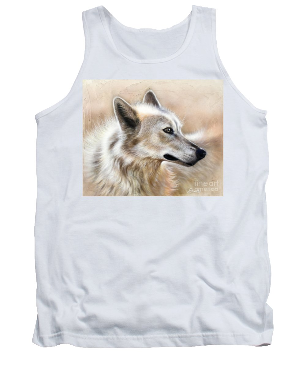 Acrylic Tank Top featuring the painting Cheyenne by Sandi Baker