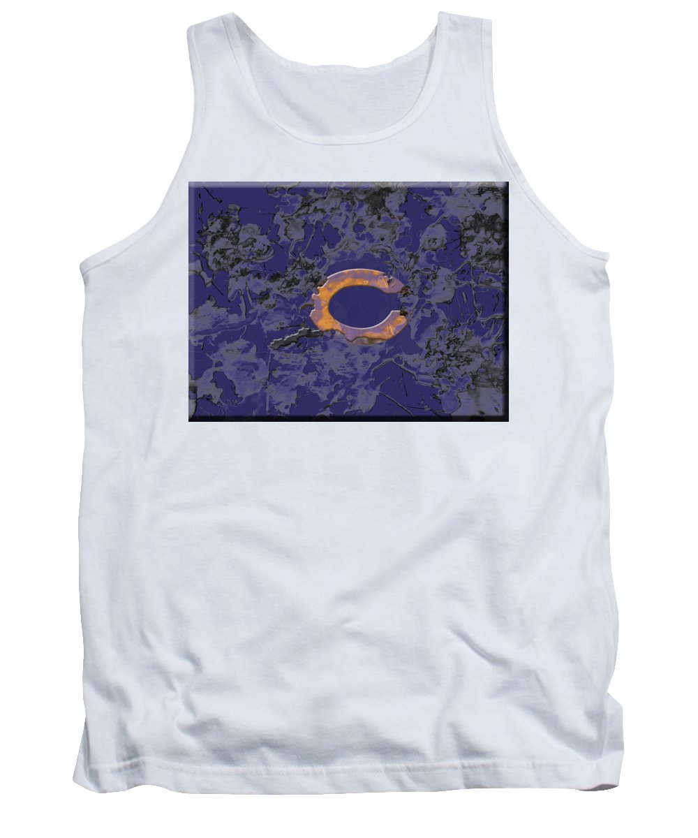 Chicago Bears Tank Top featuring the mixed media Chicago Bears B1 by Brian Reaves