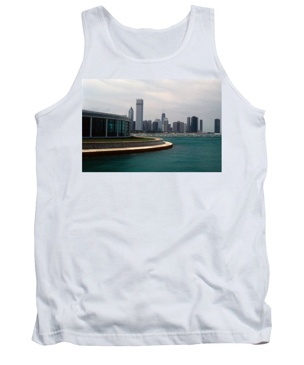 Chicago Tank Top featuring the photograph Chicago Waterfront by Gary Wonning