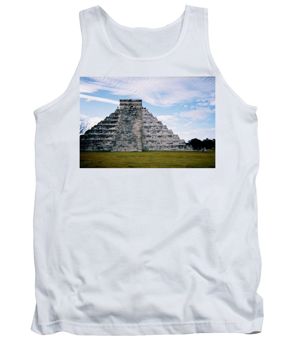 Chitchen Itza Tank Top featuring the photograph Chichen Itza 4 by Anita Burgermeister