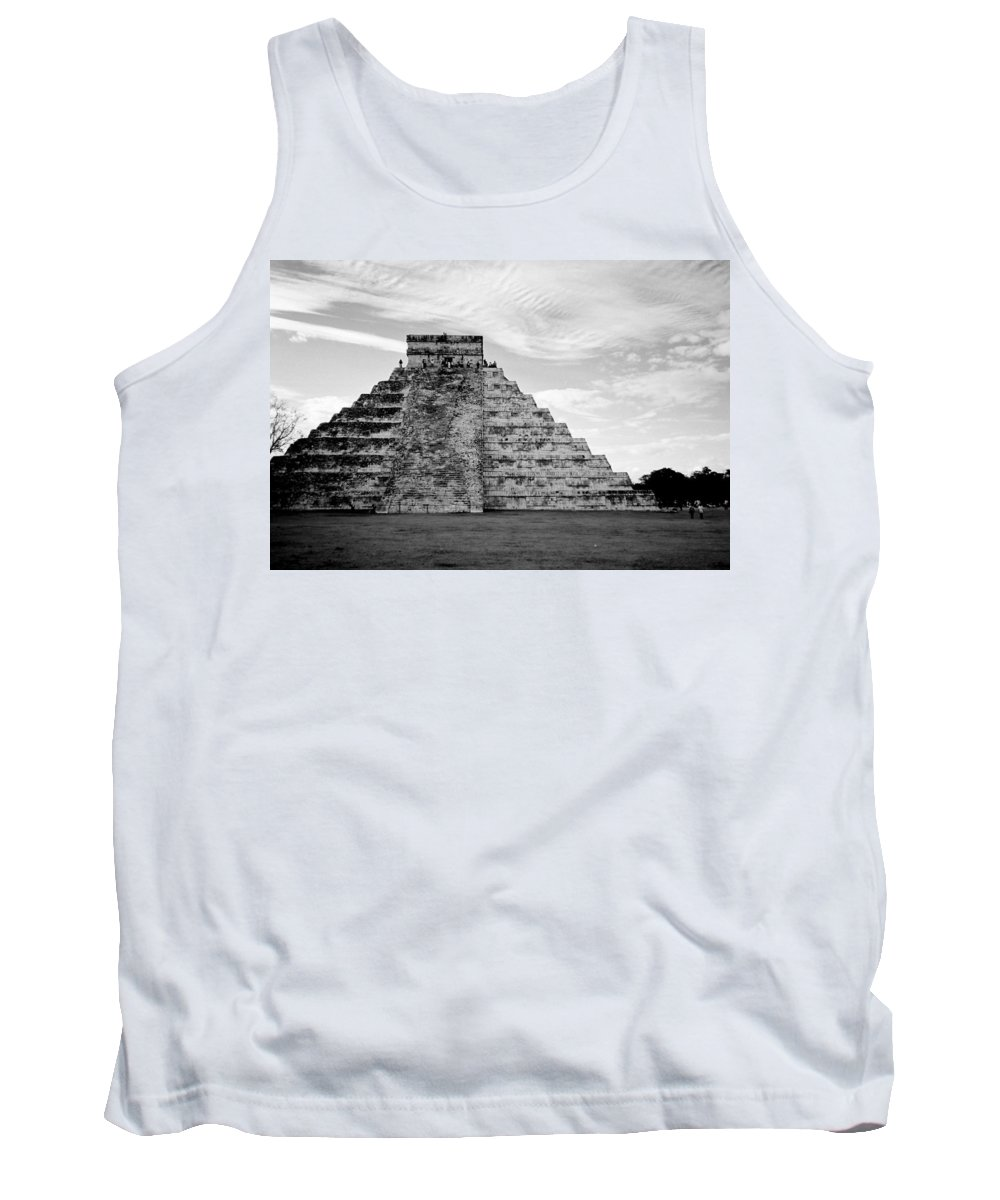 Mexico Tank Top featuring the photograph Chichen Itza B-w by Anita Burgermeister