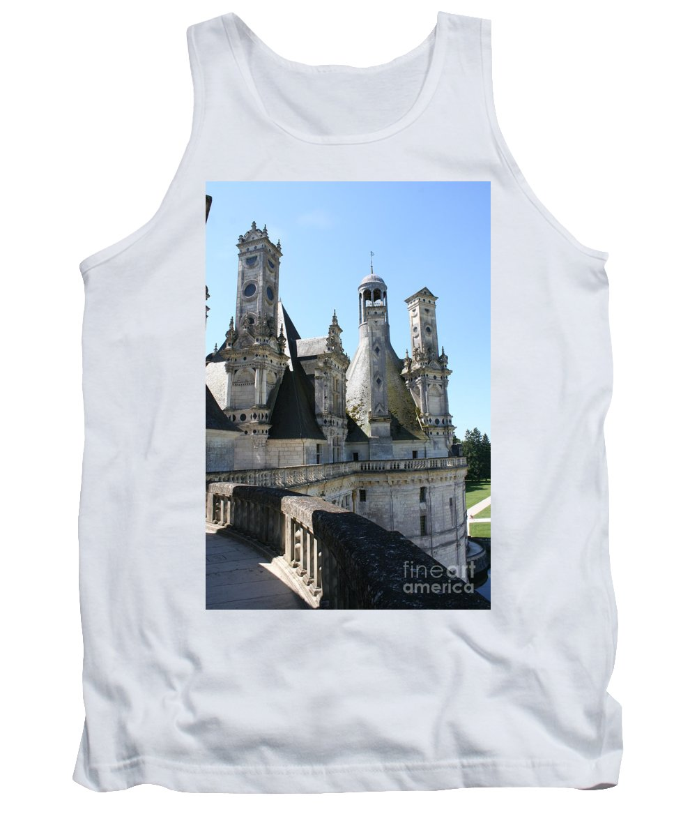 Chimney Tank Top featuring the photograph Chimney From Chambord - Loire by Christiane Schulze Art And Photography