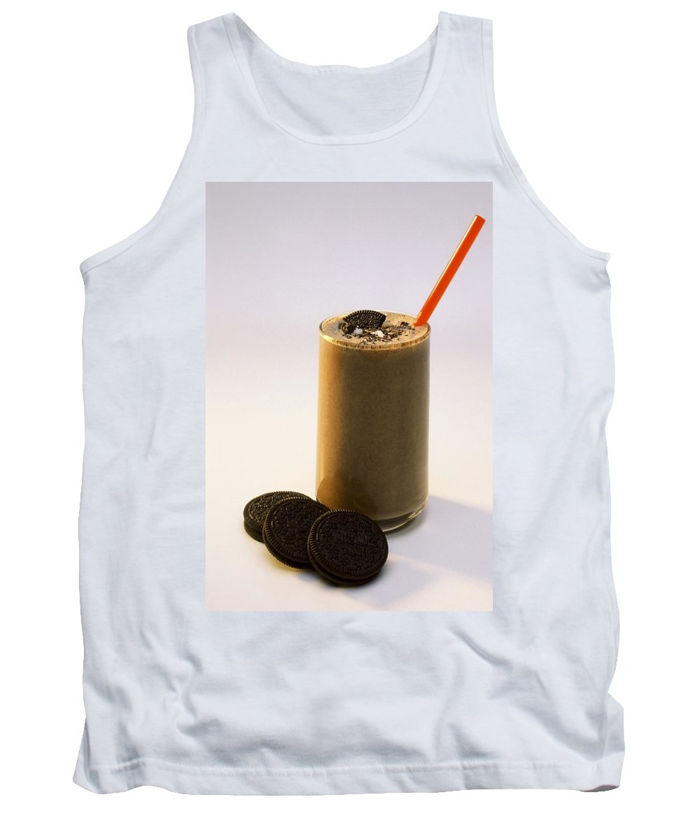 Chocolate Cookies Tank Top featuring the photograph Chocolate Milk With Cookies by Ron Nickel