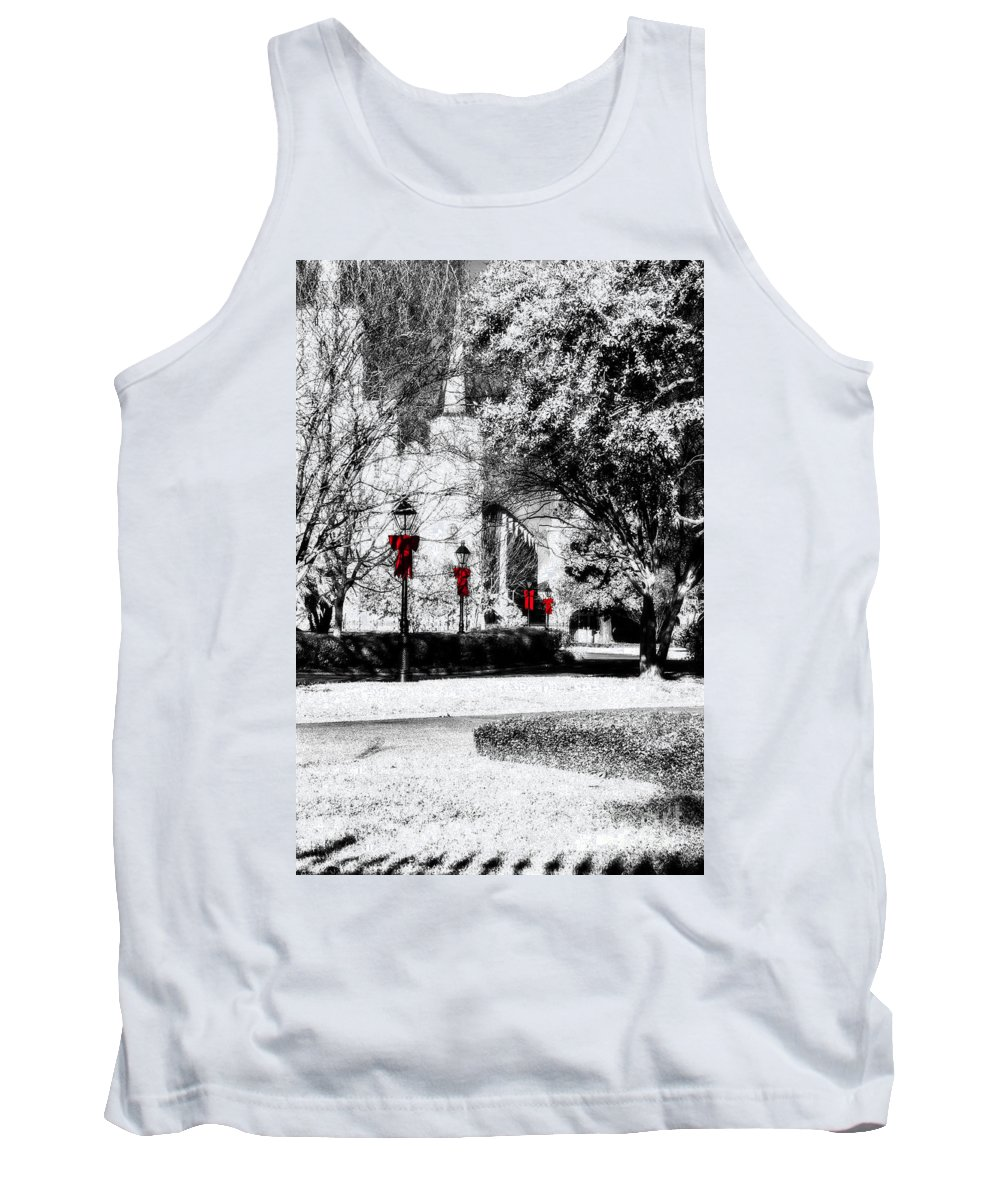 Jackson Square Tank Top featuring the photograph Christmas Jackson Square by Frances Ann Hattier