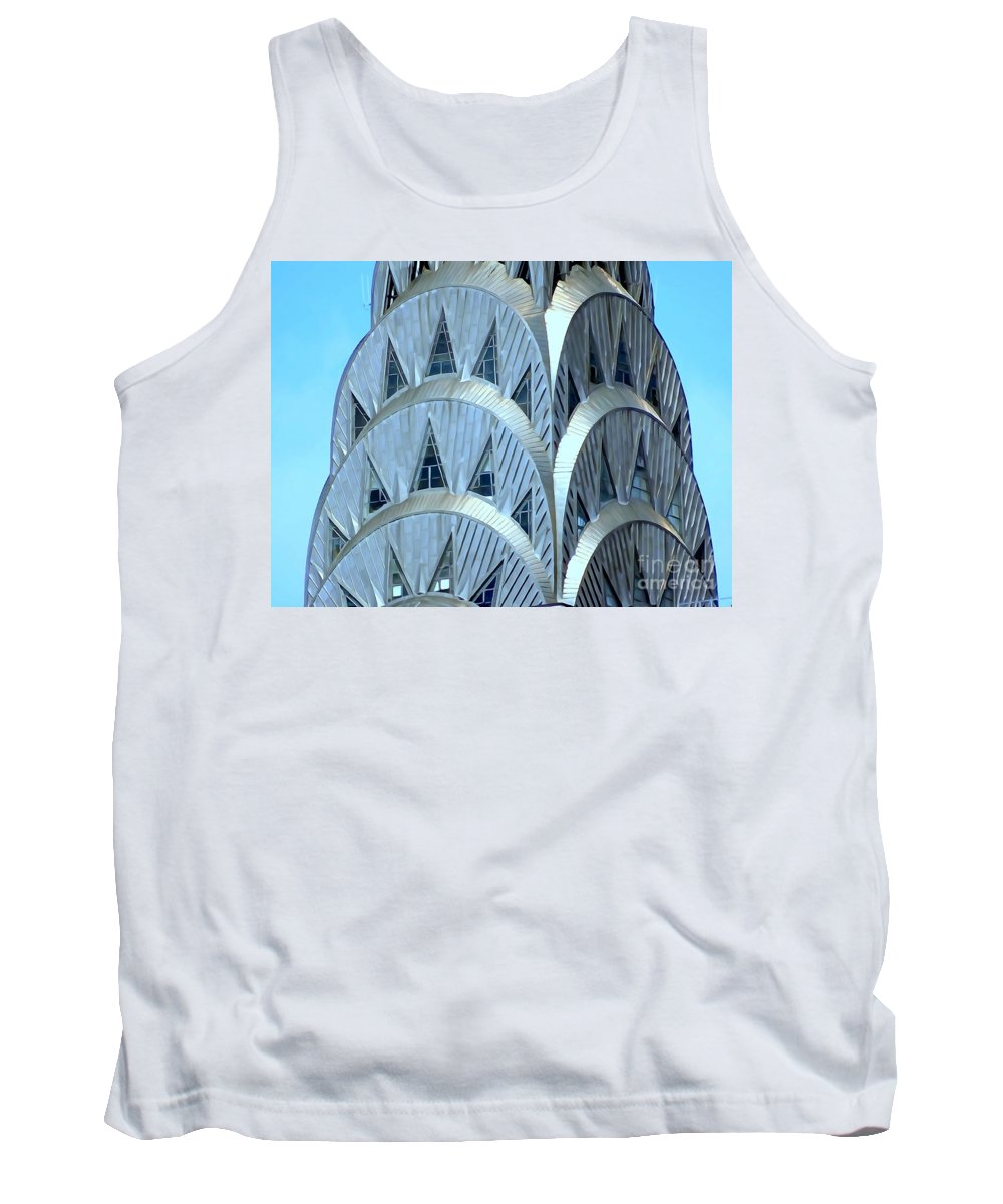 Digital Art Tank Top featuring the photograph Chrysler Closeup by Ed Weidman