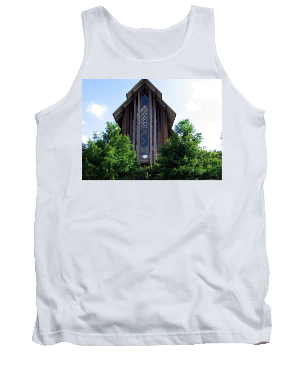 Ft Worth Tx Tank Top featuring the photograph Church In Ft Worth Tx by Amy Hosp