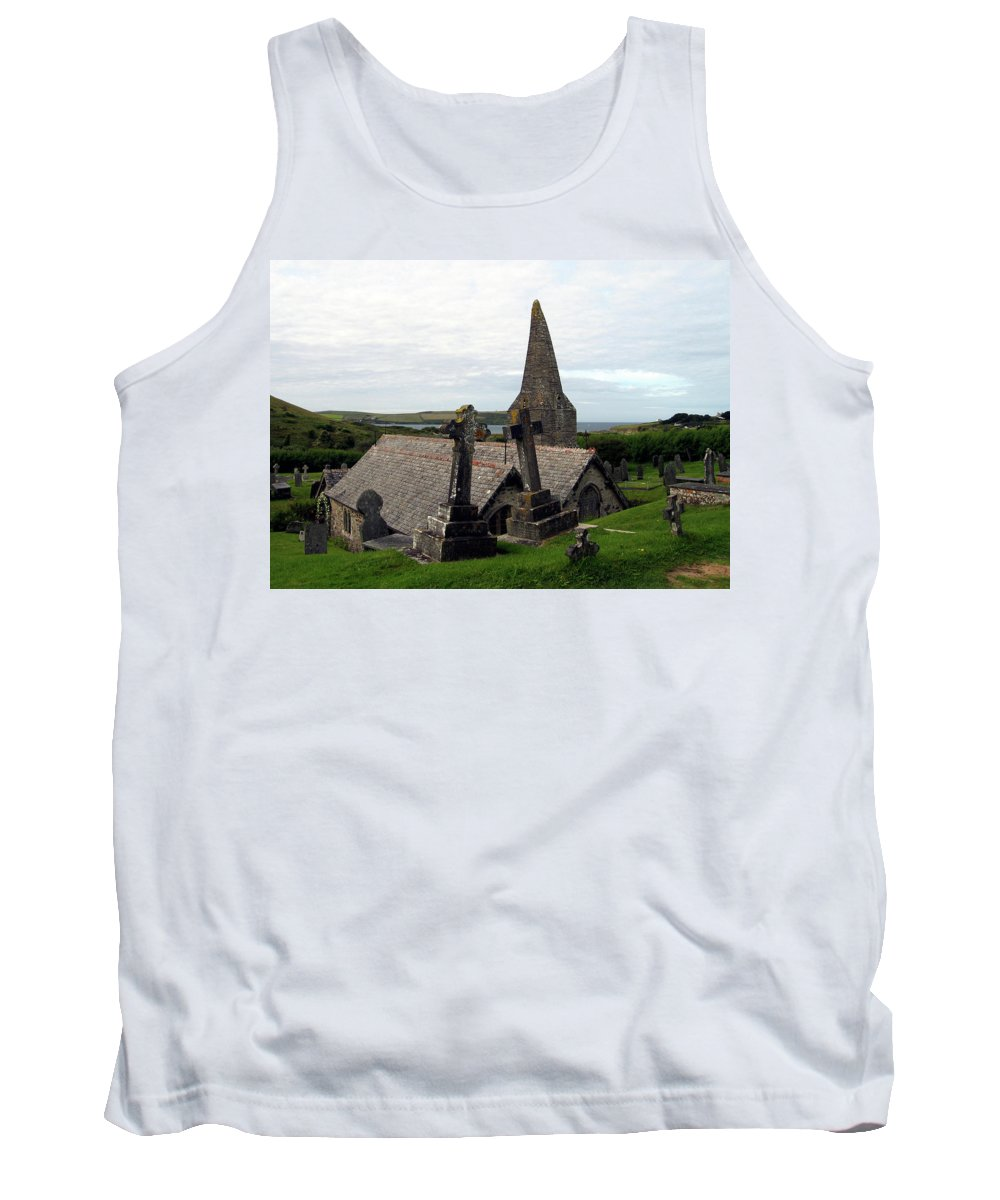 Church Of St. Enodoc Tank Top featuring the photograph Church Of St. Enodoc by Kurt Van Wagner
