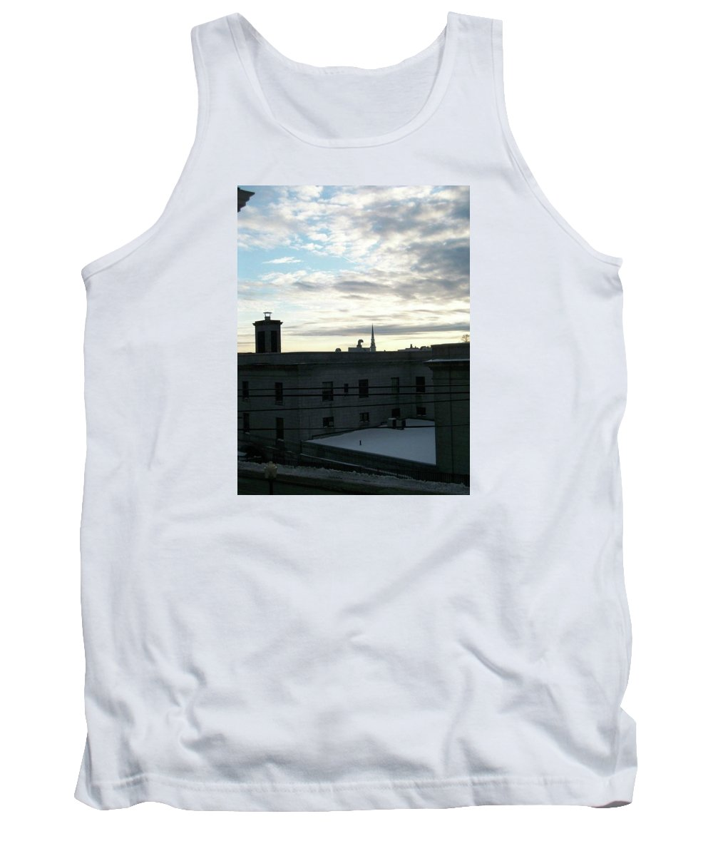 Church Tank Top featuring the photograph Church Over The City by Rebecca Sturm